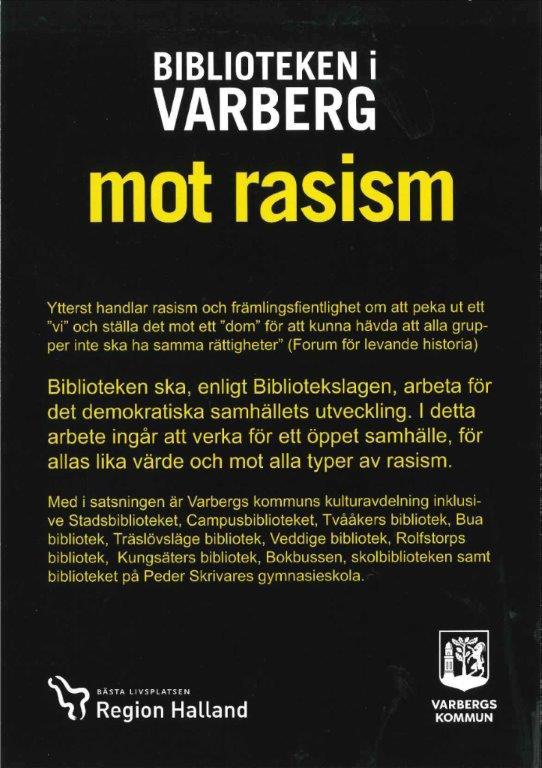 framsida flygblad rasism